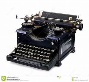 Old Black Vintage Typewriter Stock Image - Image: 16642541