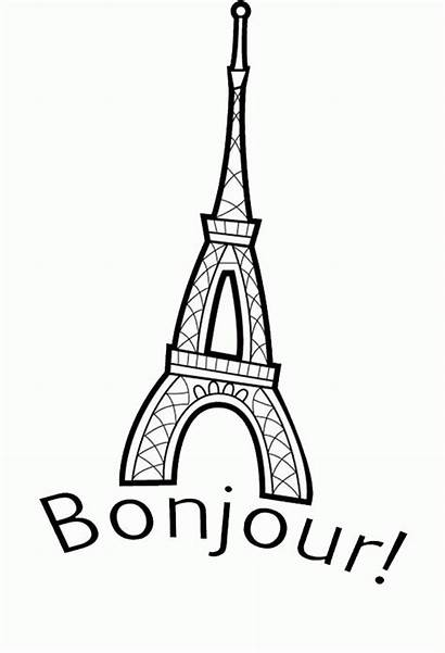 France Coloring Tower Eiffel Pages Popular
