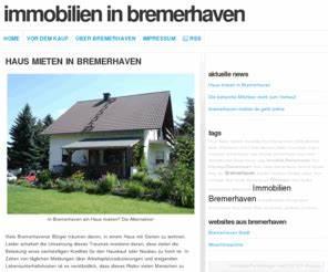 Haus In Bremerhaven Kaufen : bremerhaven immobilien bremerhaven wohnungen wohnung h user haus kaufen oder mieten ~ Orissabook.com Haus und Dekorationen