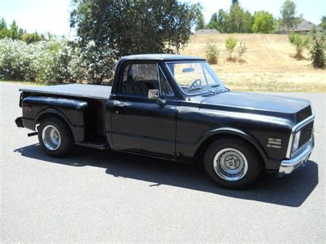 sell used 1971 chevrolet c10 400 big block short bed stepside original miles low reserve in