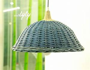mini wholesale colored wicker lamp shades for home