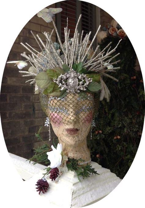 dusty victorian christmas headdress