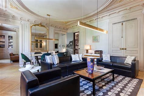 intricate luxury apartment   city  lights