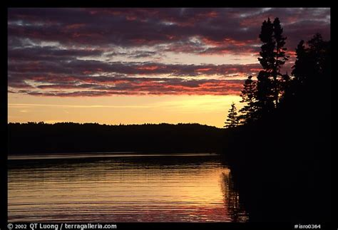 Lake Chippewa At Sunset. Isle Royale