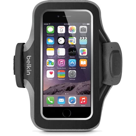 fit iphone belkin slim fit plus armband for iphone 6 6s black