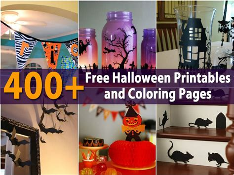 halloween printables  coloring pages diy crafts