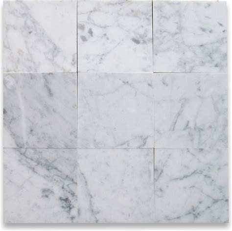 Carrara Marble Tile Floor by Carrara White 6 X 6 Tile Polished Marble From Italy