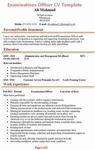 Microsoft Word Cover Letter Templates Examinations Officer Cv