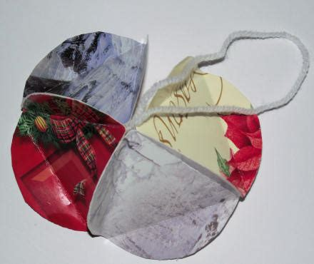 christmas card bauble craft