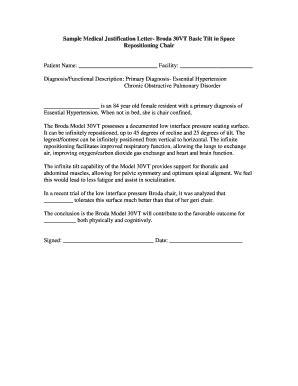 justification letter letter