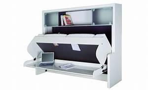 Lit Escamotable 2 Places : lit escamotable bureau pas cher lit 2 places escamotable ~ Melissatoandfro.com Idées de Décoration