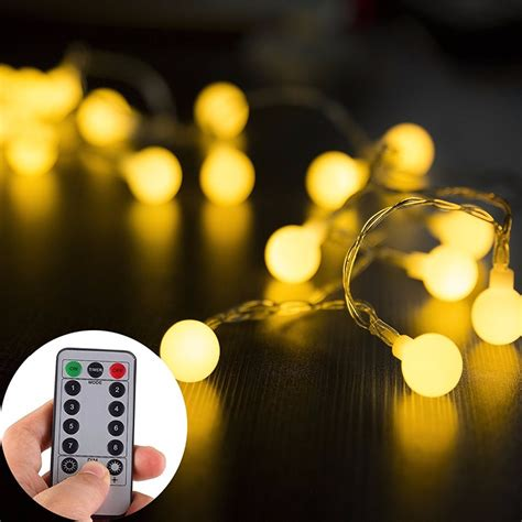 battery operated christmas lights with remote globe string lights 5m 50leds with remote battery operated lights waterproof