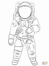 Coloring Astronaut Pages Moon Buzz Aldrin Clipart Space Cartoon Spacesuit Printable Outline Suit Nasa Helmet Astronauts Simple Looking Att Trending sketch template