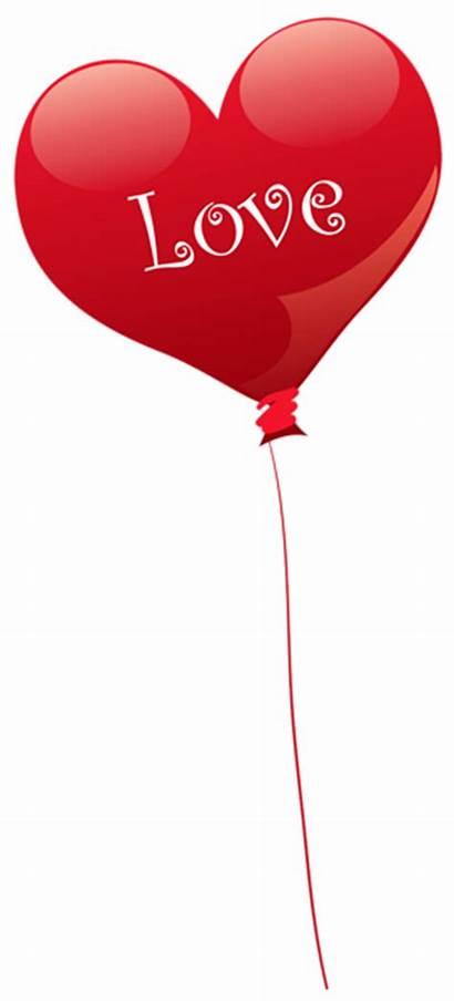 Balloon Heart Transparent Clipart Valentine Cartoon Balloons