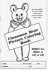 Coloring Cinnamon Bear Pages Bears Thanksgiving Kittyandmedesigns Dad Kitty Happy sketch template