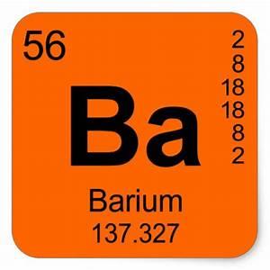 Periodic Table of Elements (Barium) Square Sticker | Zazzle