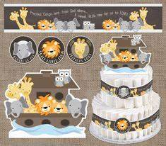 Printable Noah's Ark - Funsational com Baby shower