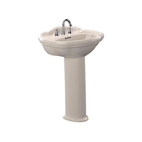 single pedestal sink toto 25 in pedestal combo bathroom sink with