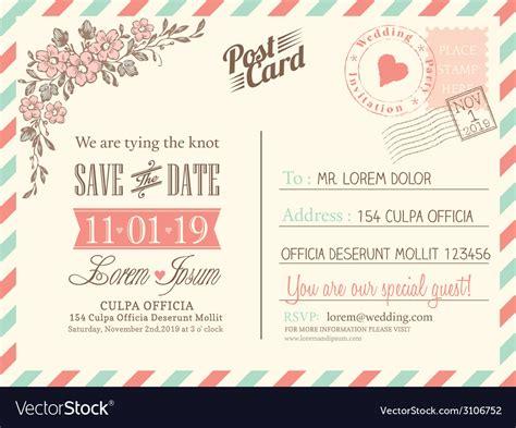 Vintage Postcard Template Vintage Backgrounds Vintage Postcard Background For Wedding Invitation