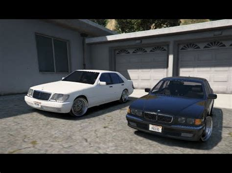 Mod Bmw S by Gta V Mercedes W140 S600 Vs Bmw E38 750i Gta 5 Mod