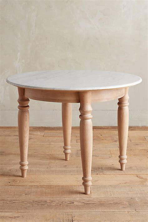 Polished Marble Dining Table, Rectangle Anthropologie
