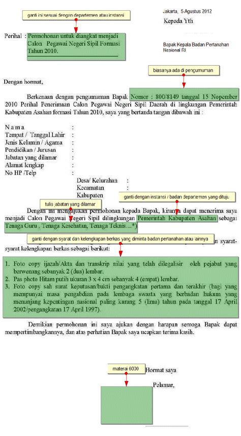 Surat Lamaran Cpns Kejaksaan Tulis Tangan by Contoh Surat Lamaran Mahkamah Agung Cv Pak Agung