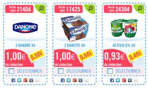 Les Direct Bon De Reduction by Jusqu 224 50 De Remise En Caisse Sur Les Produits Danone