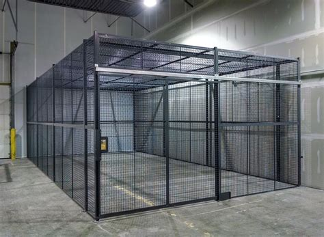 zauns range  security cages gas storage cages