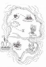 Treasure Coloring Map Pirate Island Maps Simple Sketch Drawing Draw Popular Elements Drawings Sketchite sketch template