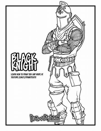Fortnite Knight Coloring Drawing Skins Season Royale