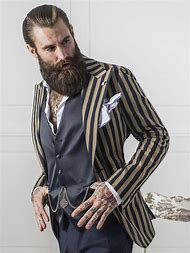 Hipster Men with Beards and Tattoos