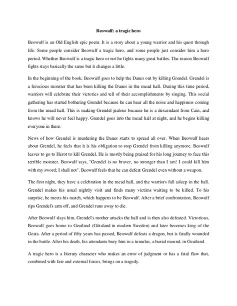Beowulf And Evil Essay by Beowulf Vs The Essay