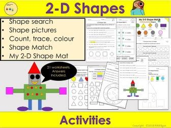 shapes worksheets activities repeating