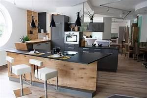 Küchen U Form Bilder : k che in u form mit bar sch ne ideen und bilder f r theken in kleinen und gro en k chen k che ~ Orissabook.com Haus und Dekorationen
