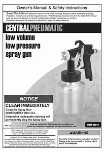 Central Pneumatic 92841 Owner U0026 39 S Manual Pdf Download