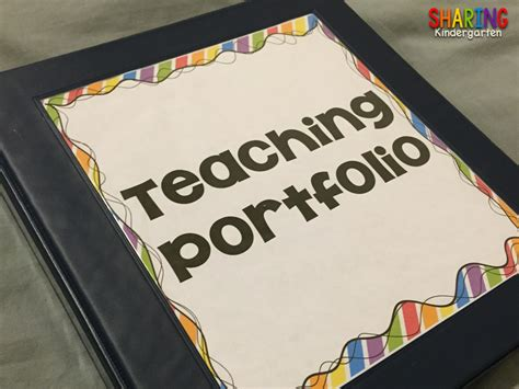 kindergarten create a teaching portfolio 508 | Slide37