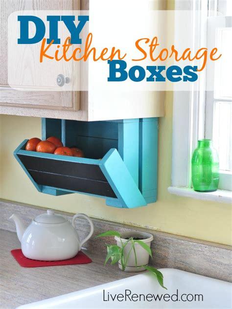 Diy Kitchen Storage Boxes