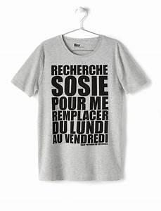 T Shirt Avec Message : tee shirt sosie homme bizzbee ~ Nature-et-papiers.com Idées de Décoration