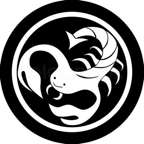 Skorpion Sternzeichen Monat by Stilisierte Sternzeichen Skorpion Isolierten