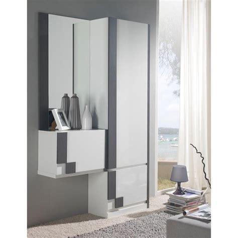 miroir dans chambre meuble d 39 entrée moderne avec rangement chaussures