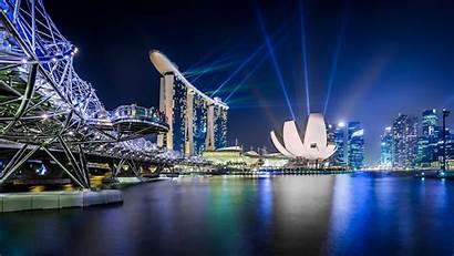 Singapore Sights Beauty Scenes Museum Science Marina