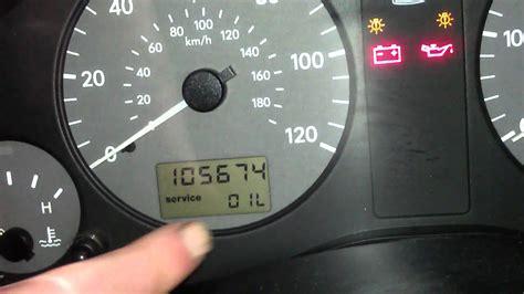 reset service light indicator   volkswagen