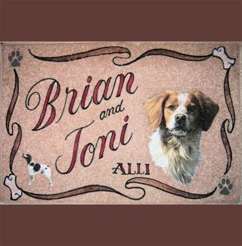 Brittany Spaniel Personalized Dog Door Mat,airbrush