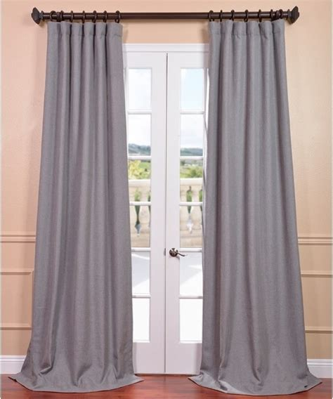 light grey linen curtain panel contemporary curtains