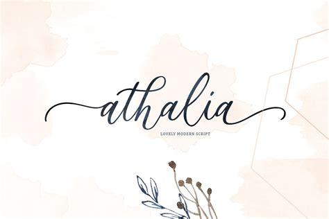 athalia script font befontscom
