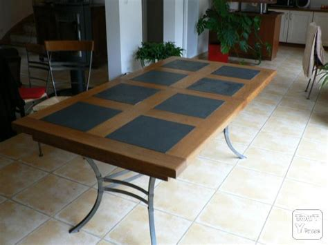table ardoise bois chaios