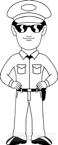 policeman with gun clipart black and white occupations black white policeman clipart classroom