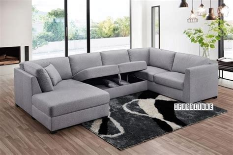 Oakdale Sofas by Oakdale Sectional Modular Sofa Light Grey Ifurniture The