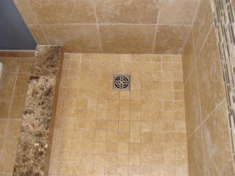 marble shower curb mosaic tile shower pan bathrooms