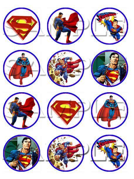superman edible cupcake toppers  itsedible  etsy
